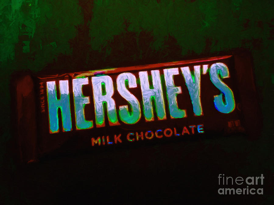 Hershey Photograph - Hersheys Chocolate Bar by Wingsdomain Art and Photography