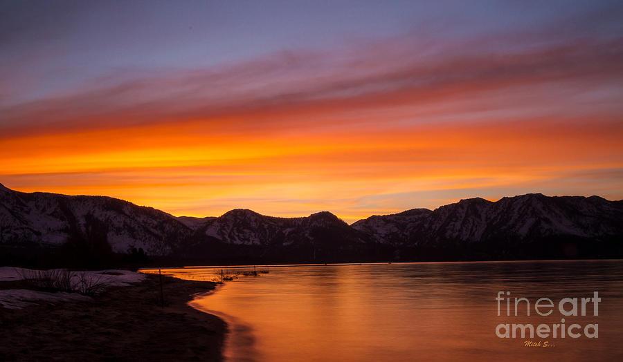 Hidden Beach Sunset Photograph