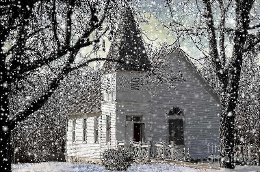 Higgensville Church Photograph  - Higgensville Church Fine Art Print