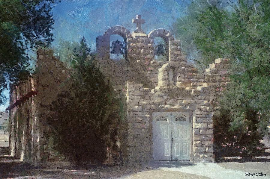 High Desert Church Painting  - High Desert Church Fine Art Print