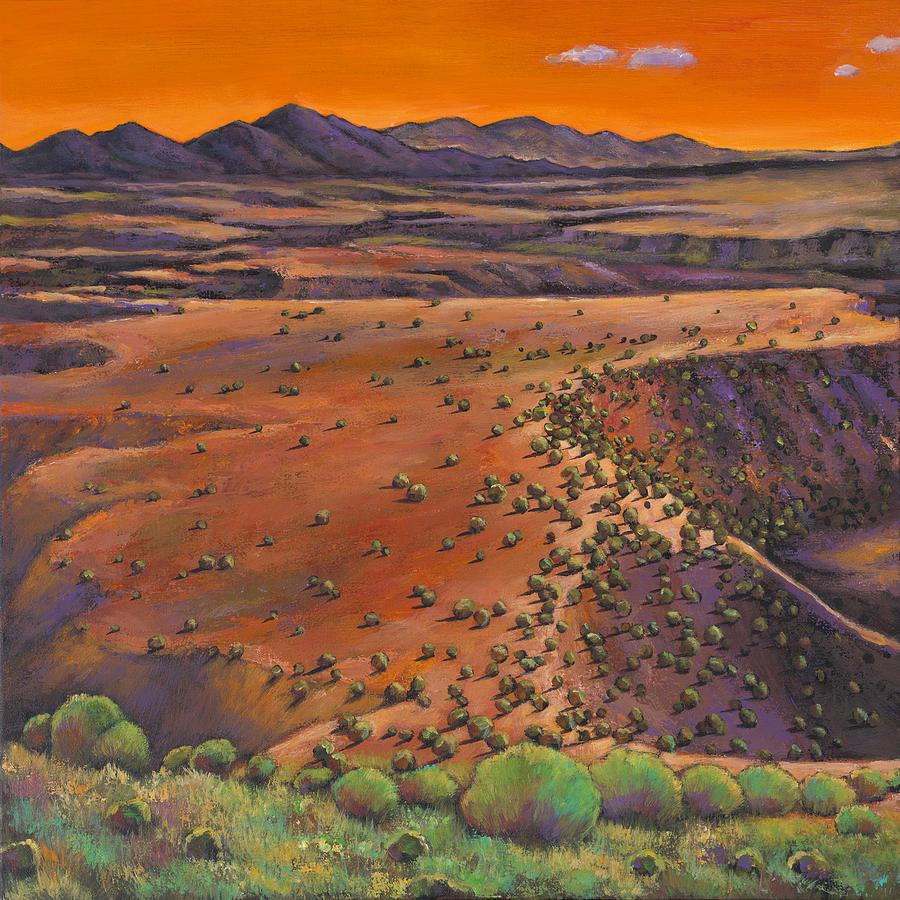 high desert evening painting by johnathan harris