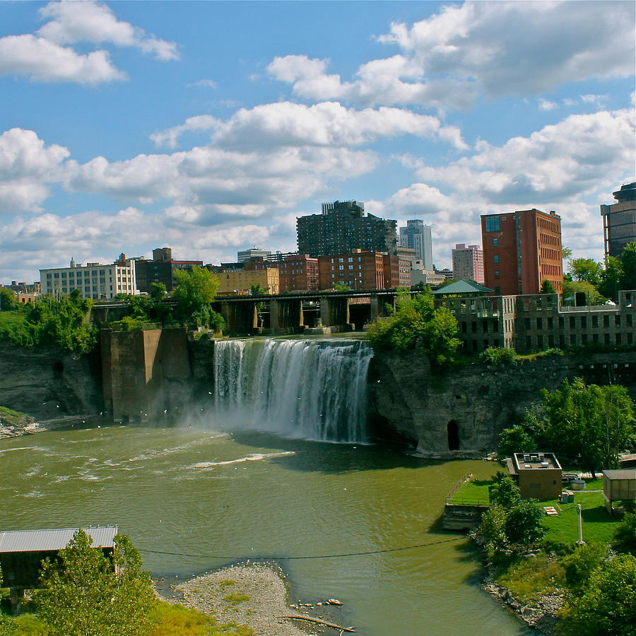 High Falls Rochester  Photograph