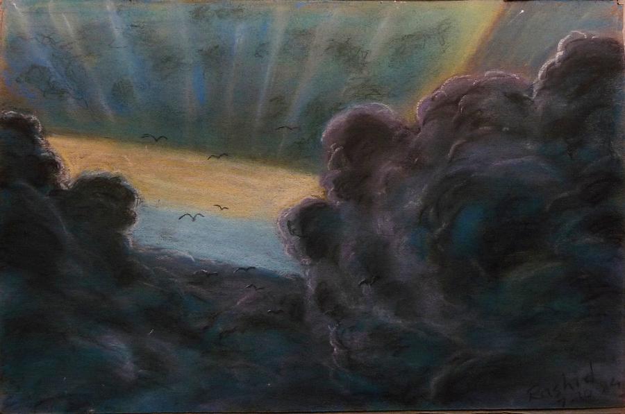 Menacing Looking Clouds Digital Art - High In To The Clouds by Rashid Hamza