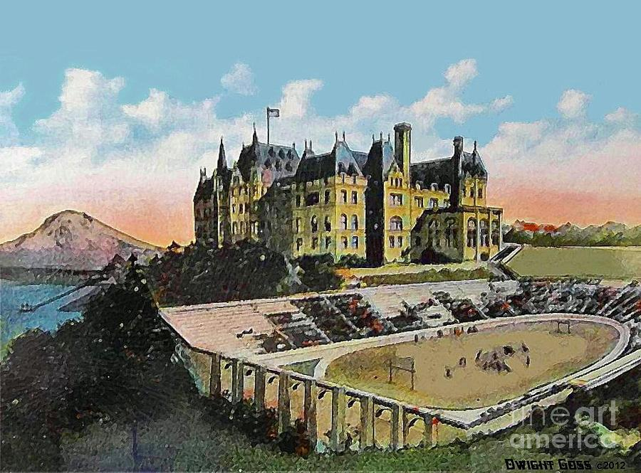 High School Football Stadium In Tacoma Wa 1911 Painting  - High School Football Stadium In Tacoma Wa 1911 Fine Art Print