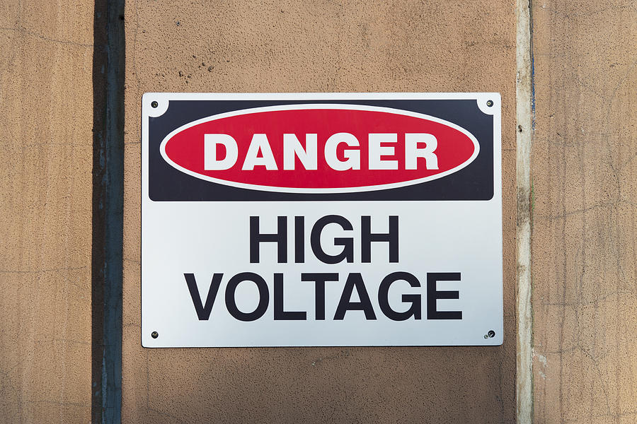 High Voltage Sign Photograph