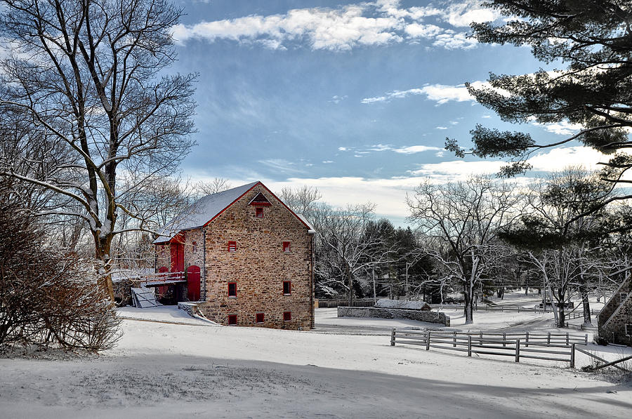 Highland Farms In The Snow Photograph