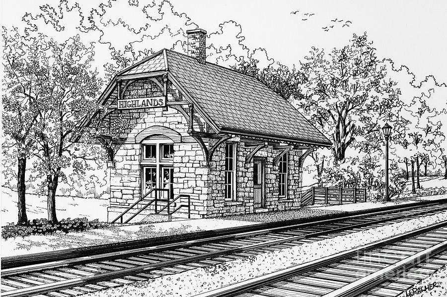 Highlands Train Station Drawing