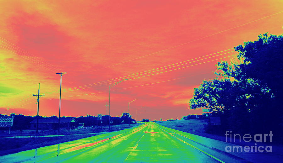 Highway 81 Storm Photograph  - Highway 81 Storm Fine Art Print