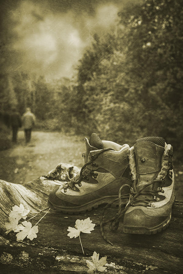 Hiking Boots Photograph  - Hiking Boots Fine Art Print