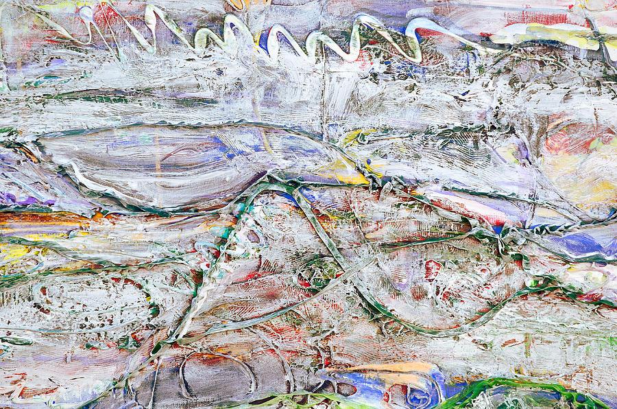 Texture Painting - Hills And Fog Close Crop Version by Regina Valluzzi