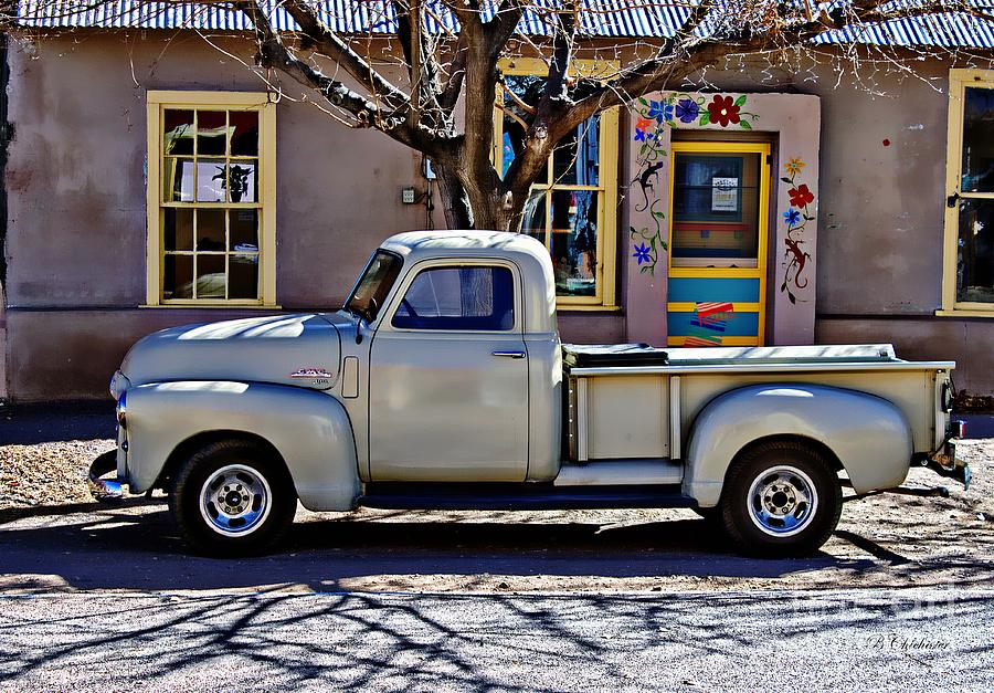 Wall Painting - Hillsboro New Mexico 1949 Gmc 100 by Barbara Chichester