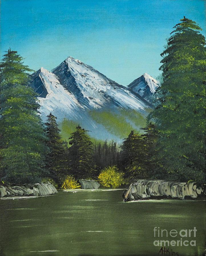Hillside Pond Painting