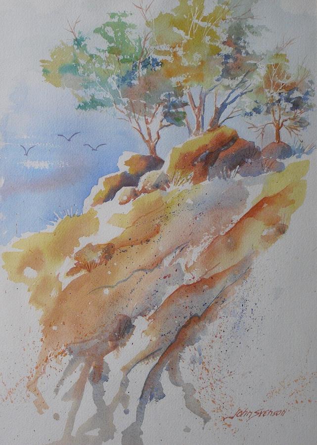 John Svenson Painting - Hillside Rocks by John  Svenson