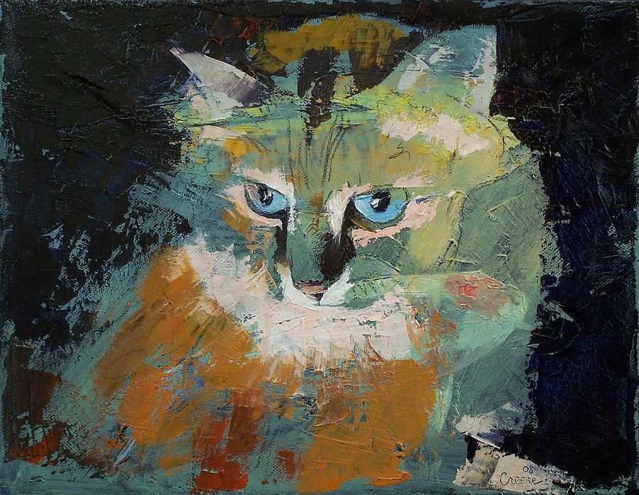 Himalayan cat painting by michael creese for Cat paintings on canvas