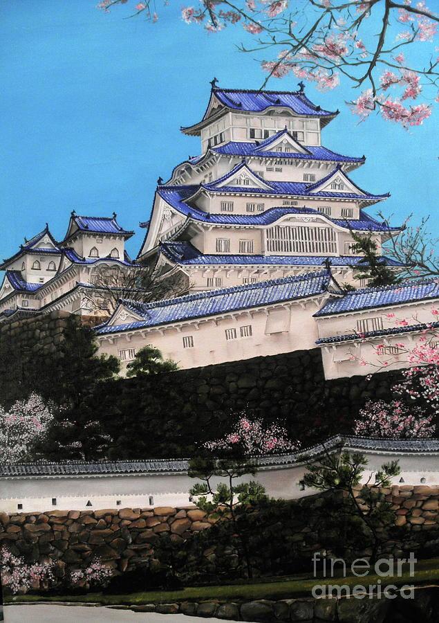 Dlgerring Painting - Himeji Castle by D L Gerring