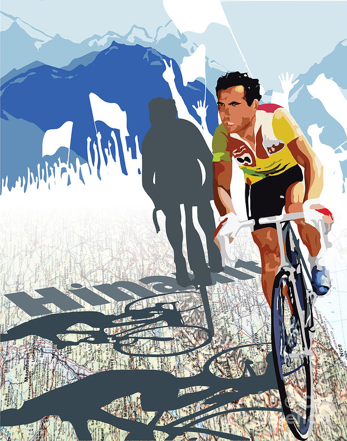 Hinault Map Print Digital Art