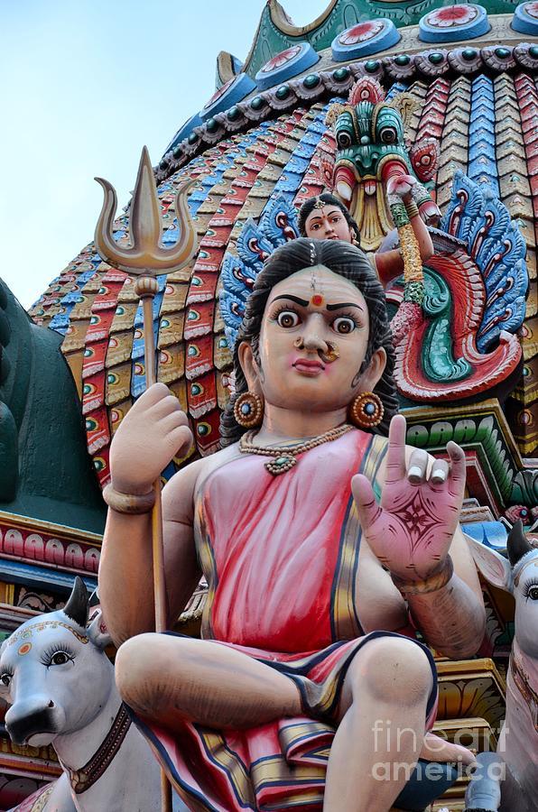Hindu Goddess At Colorful Temple Photograph