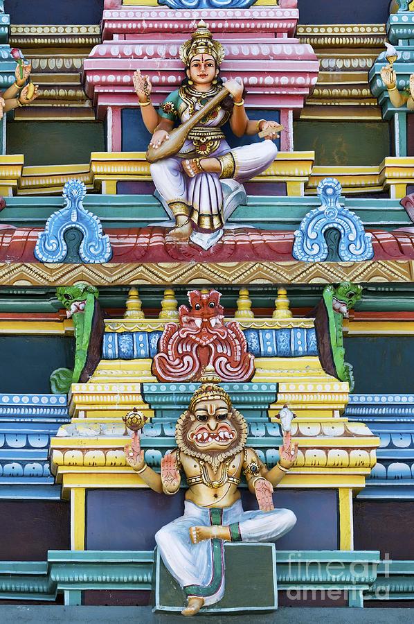 Hindu Temple Deity Statues Photograph