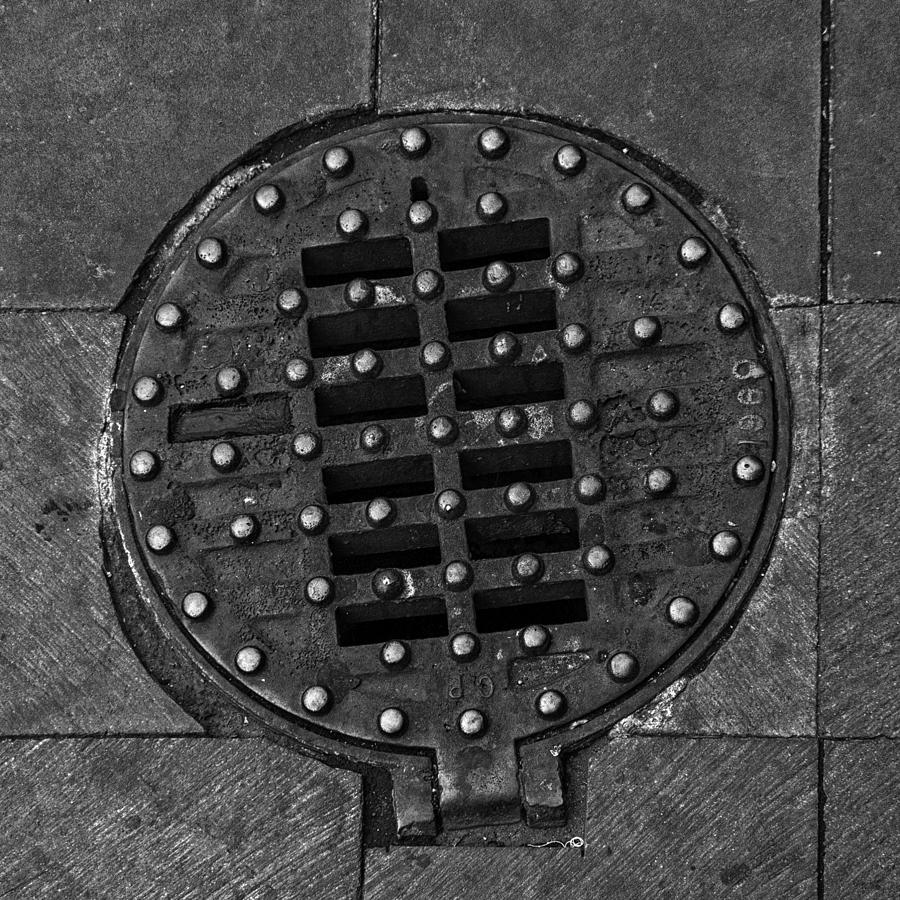 Hinged Manhole Cover Photograph  - Hinged Manhole Cover Fine Art Print