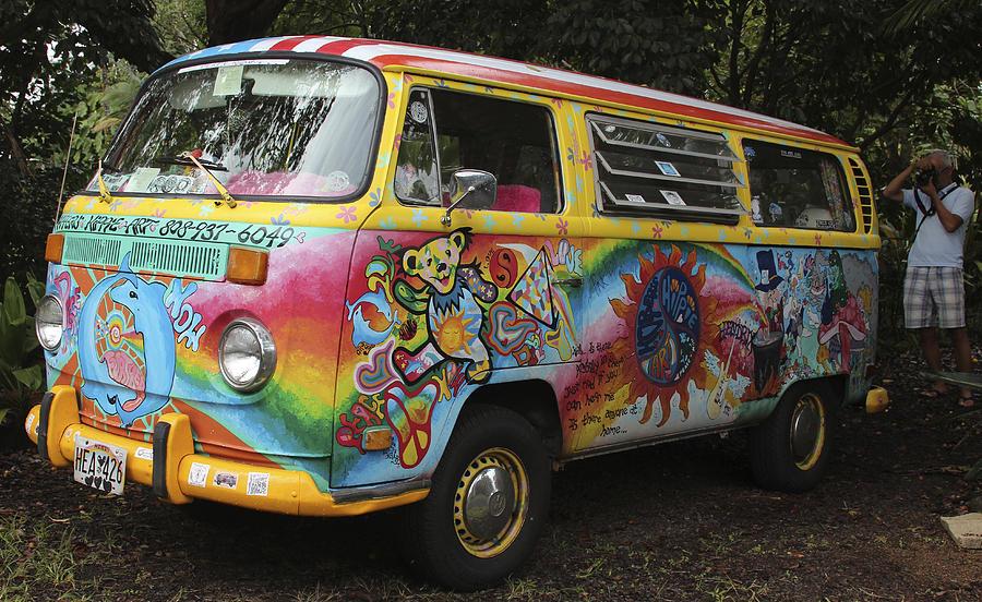 Vintage 1960 S Vw Hippie Bus Photograph By Venetia