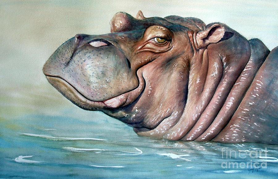 Hippopotamus Face Paint