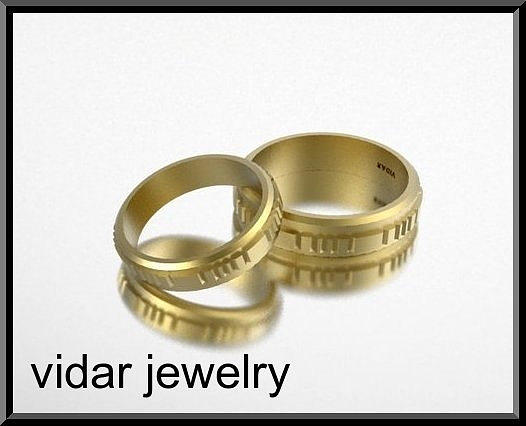 His And Hers 14k Yellow Gold Matching Wedding Bands Set Jewelry