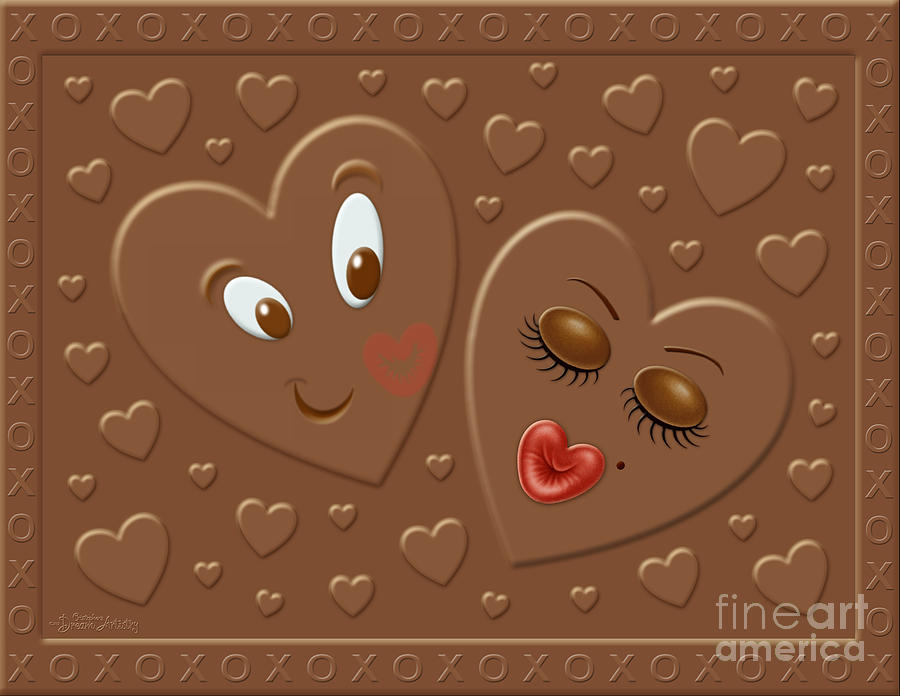 His And Hersheys Digital Art  - His And Hersheys Fine Art Print