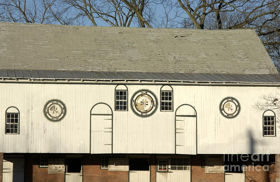 Historic Barn With Hex Signs In Pennsylvania Photograph