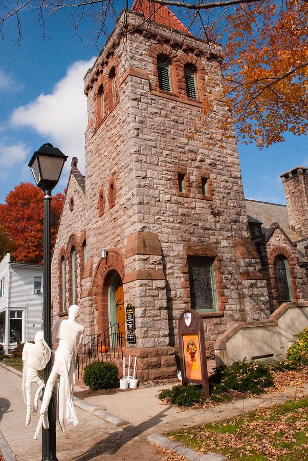 Historic Church Essex Village Connecticut Photograph