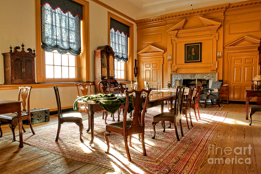 Historic Governor Council Chamber Photograph  - Historic Governor Council Chamber Fine Art Print