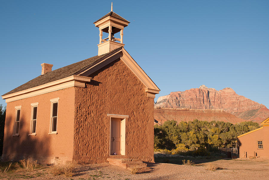 Historic Schoolhouse Grafton Ghost Town Rockville Utah Photograph