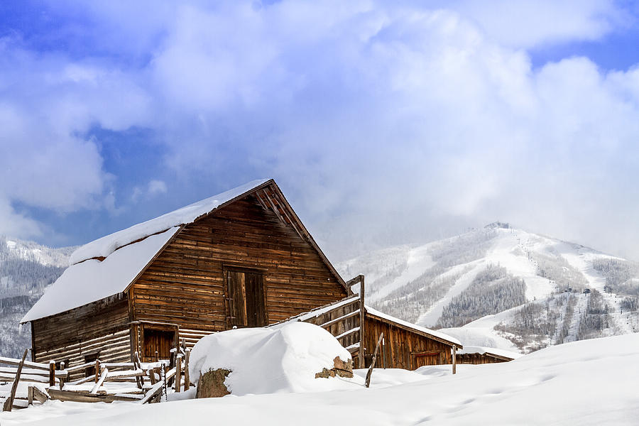 Champagne Powder Photograph - Historic Steamboat Springs Barn And Ski Area by Teri Virbickis