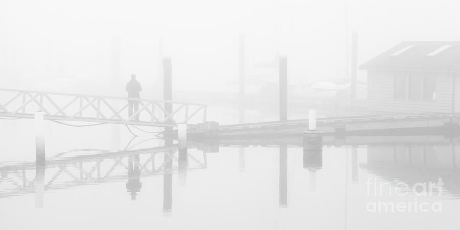 Historic Stewart Farm In The Fog Photograph