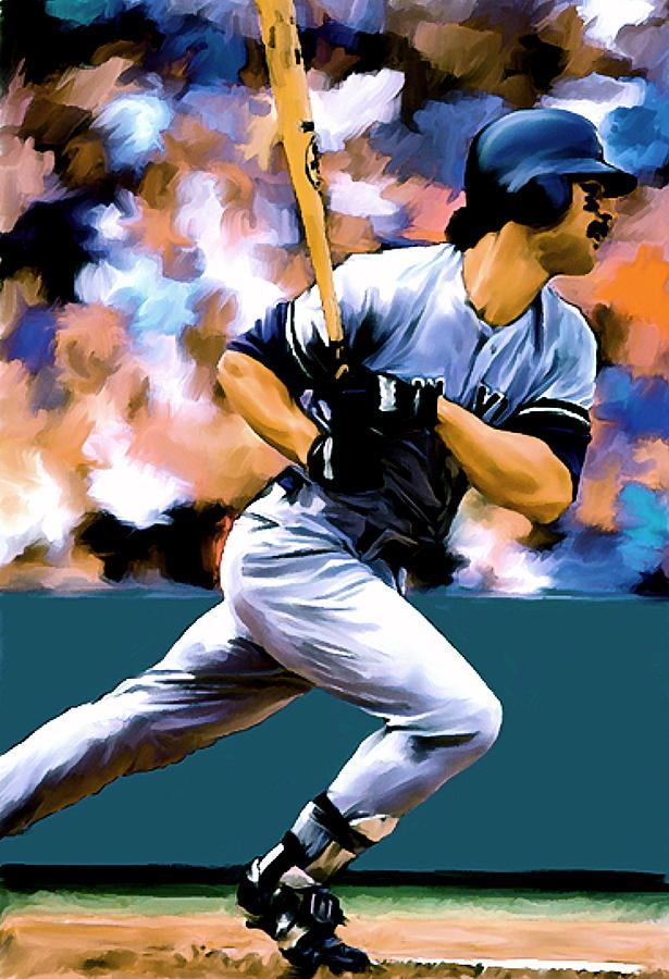 Hit Man  Don Mattingly  Painting  - Hit Man  Don Mattingly  Fine Art Print