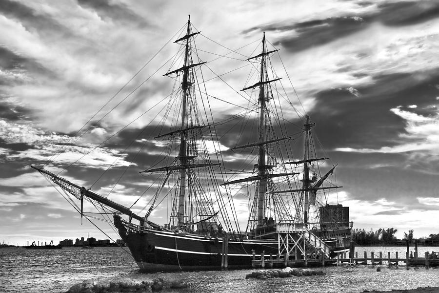 Clouds Photograph - Hms Bounty Singer Island by Debra and Dave Vanderlaan