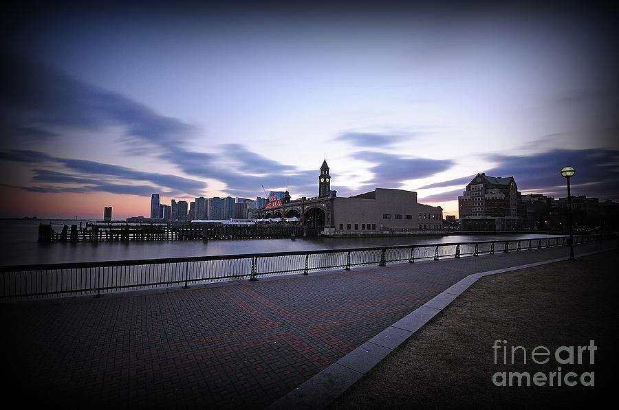 Hoboken Overlooking The Ferry Photograph  - Hoboken Overlooking The Ferry Fine Art Print