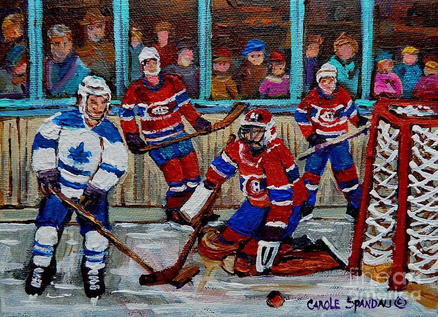 Hockey Art Vintage Game Montreal Forum Painting