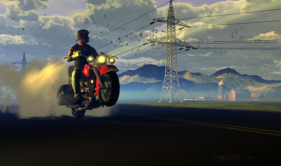 Dieter Carlton Digital Art - Hog Rider by Dieter Carlton