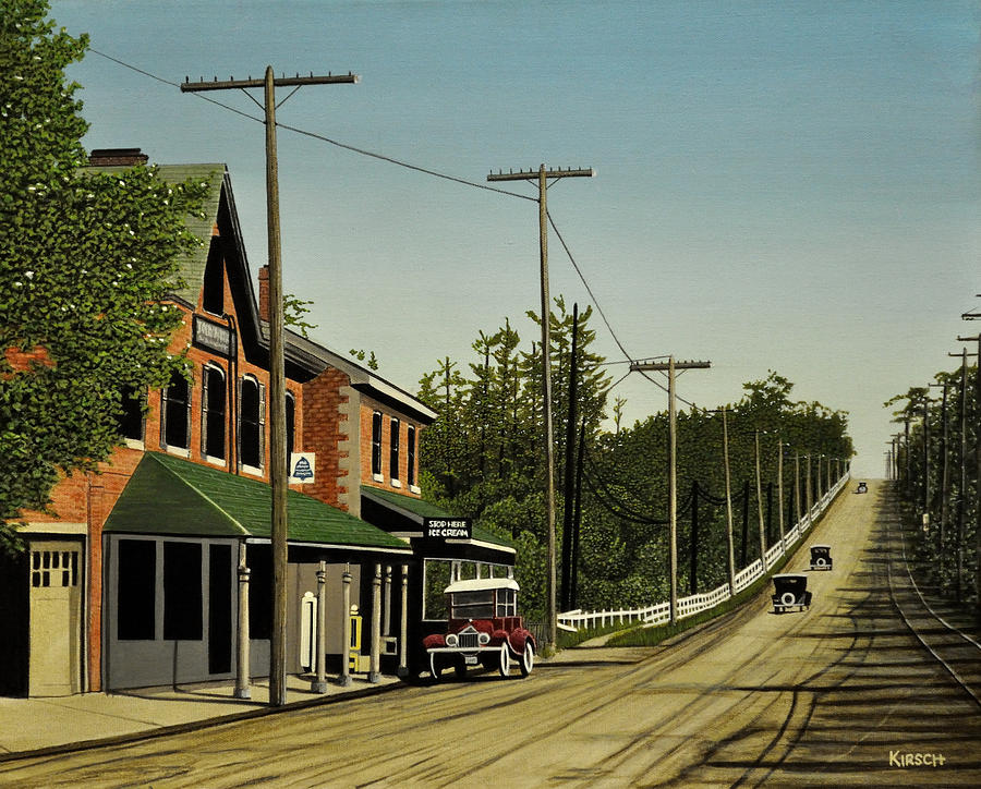 Hoggs Hollow Toronto 1920 Painting  - Hoggs Hollow Toronto 1920 Fine Art Print