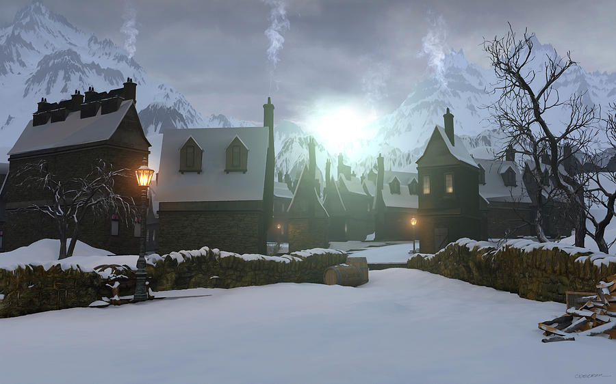 Hogsmeade Digital Art