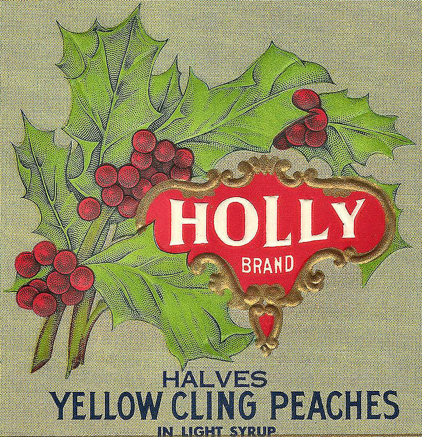 Holly Brand Yellow Cling Peaches Digital Art