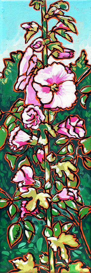 Hollyhock Painting  - Hollyhock Fine Art Print
