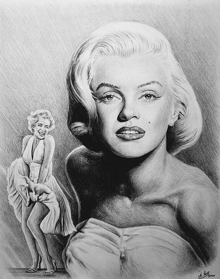 Hollywood Greats Drawing  - Hollywood Greats Fine Art Print