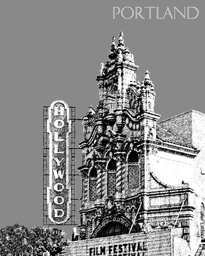 Hollywood Theater Digital Art  - Hollywood Theater Fine Art Print