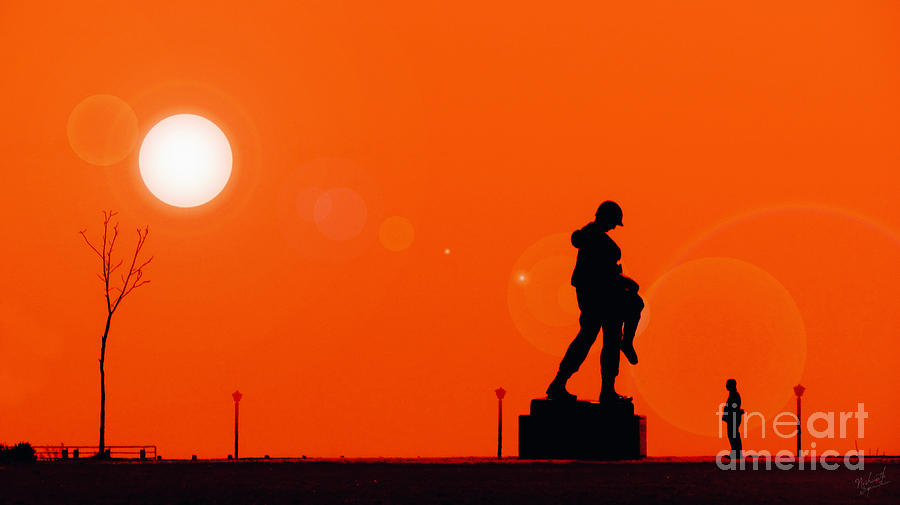 Holocaust Memorial Sunset Photograph - Holocaust Memorial - Sunset by Nishanth Gopinathan