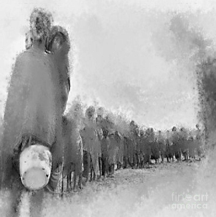 Holocaust Digital Art  - Holocaust Fine Art Print