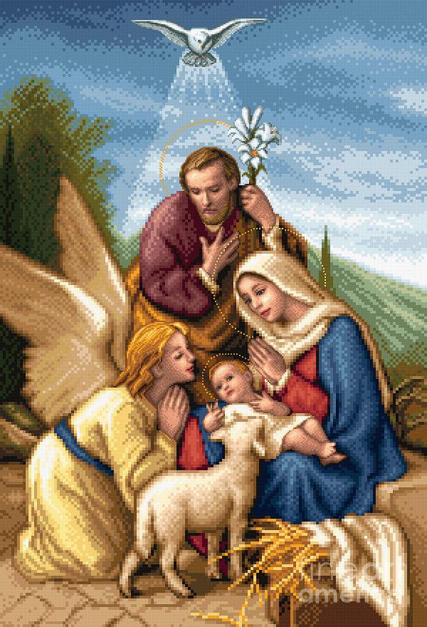 Gobelin Tapestry - Textile - Holy Family by Stoyanka Ivanova