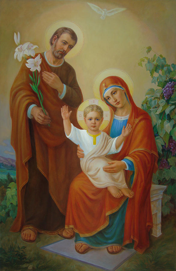 Holy Family With The Vine Tree Painting