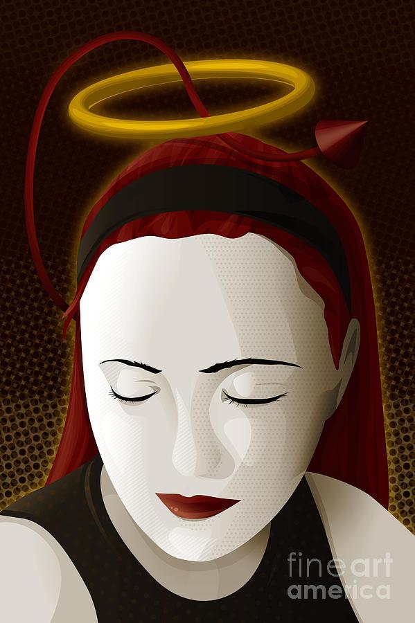 Woman Digital Art - Holy Mary by Sandra Hoefer