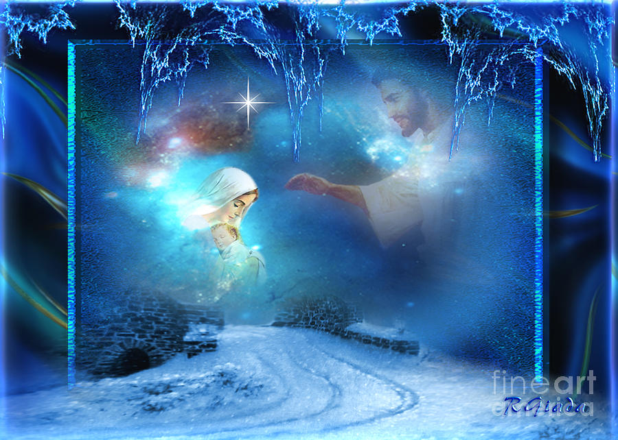 Holy night christmas art by giada rossi digital art by for Christmas images paintings